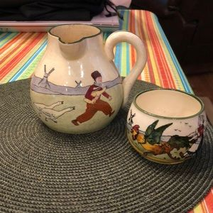 Pitcher and Cup